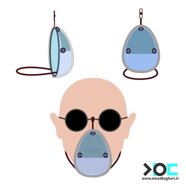 ایده طرح ماسک پارچه ای ماژولار عینکی
